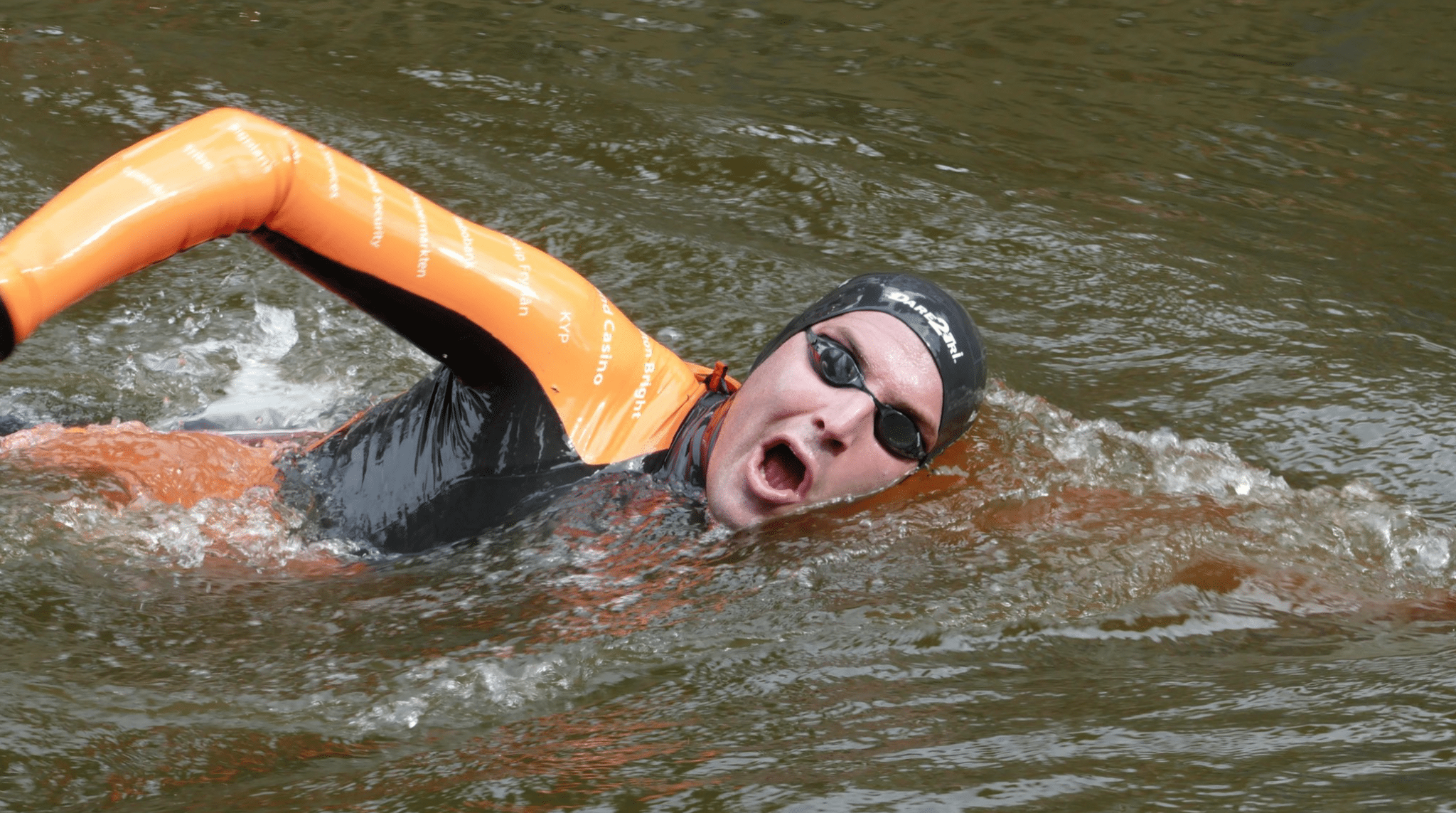 Maarten van der Weijden swims 55 hours to raise money for cancer research! he raised over 2.5 million euro's!